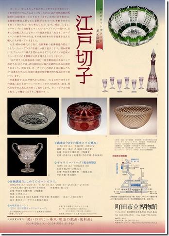町田市立博物館「江戸切子 -日本のカットガラスの美と伝統-」