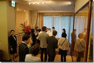 日本ガラス工芸学会創立40周年記念祝賀会受付
