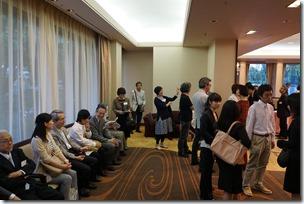 日本ガラス工芸学会創立40周年記念祝賀会開宴前